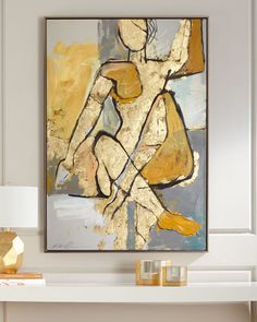 Shop Bond Girl from RFA Fine Art at Horchow, where you'll find new lower shipping on hundreds of home furnishings and gifts. Abstract Canvas, Canvas Art, Painting Abstract, Gold Leaf Art, Acrylic Art, Figure Painting, Figurative Art, Painting Inspiration, Art Decor