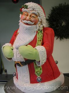 AWESOME!!! Santa Cake by Karen Portaleo/ Highland Bakery, via Flickr