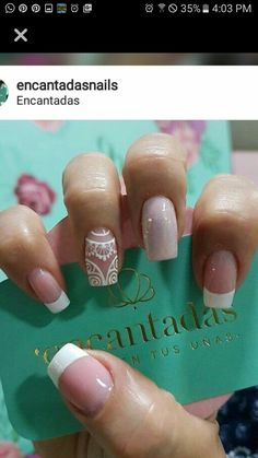 Cute Nails, Pretty Nails, Mandala Nails, Glow Nails, Wedding Nails Design, Beautiful Nail Designs, Perfect Nails, French Nails, Nail Arts
