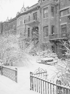 Yes our winters are really like that when à snow storm comes knocking. Winter Is Here, Winter Fun, Winter Travel, Winter Snow, Montreal Ville, Montreal Quebec, Snow Storm Coming, Montreal In Winter, Snow Pictures