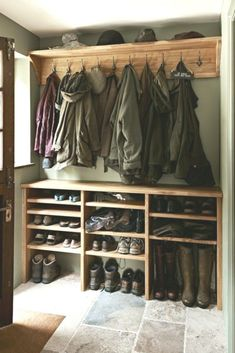 Oak Old and New Figura Bespoke Kitchens Property Renovation Boot Room Utility, Mudroom Laundry Room, Shoe Rack Mudroom, Bespoke Kitchens, Home Organization, Organizing, Home Projects, Home Remodeling, New Homes