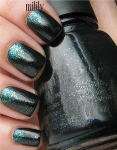 China Glaze Smoke and Ashes with Quo by Orly Turquoise Moonlight