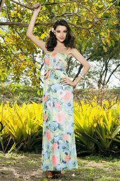 Тропический платье