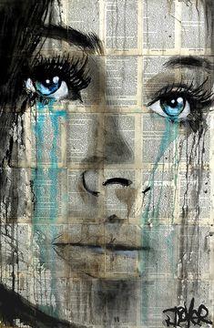 Loui Jover - Drawings for Sale Art Pop, Journal D'art, L'art Du Portrait, Newspaper Art, Face Art, Painting & Drawing, Watercolour Painting, Amazing Art, Saatchi Art