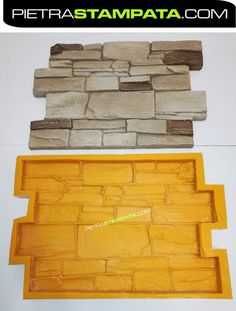 Polyurethane soft rubber mold for production plaster and concrete casting. - Plaster/concrete molds - Welcome Haar Design Concrete Casting, Concrete Forms, Concrete Wall, Faux Brick Wall Panels, Faux Stone Walls, 3d Wall Panels, Cheap Tiny House, Stone Wall Design, Fake Stone
