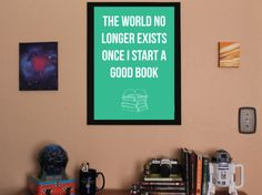Book Nerd Poster GOOD BOOK centered by GeeksMakeThings on Etsy, $22.00