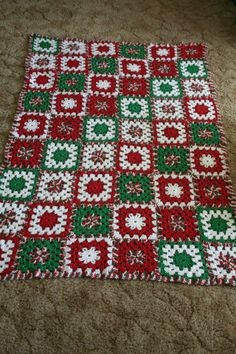 Christmas Afghan Pattern by: Mikey Sellick (Mileyssmail on YouTube)