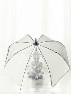 This is just cute.. I definitely need to find a clear umbrella!  (Could be fun for couples/bridal/wedding pics too!)
