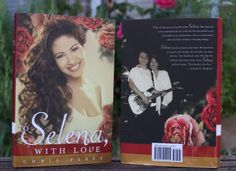 """""""To Selena, with Love"""" book by Chris Perez showing cover and back art. Selena Quintanilla Perez, Coffee And Books, My Books, Love Book, This Book, Selena And Chris Perez, Jackson, Selena Selena, Latina Girls"""