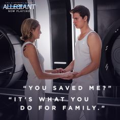 No matter what, Tris will always protect Caleb. #Allegiant