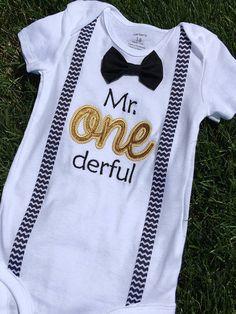 Mr one derful Boys Birthday Boys First Birthday Bowtie Shirt