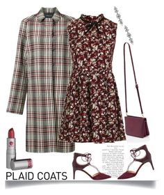 """""""Pattern Mix: Plaid Coats'"""" by dianefantasy ❤ liked on Polyvore featuring Derek Lam, Lipstick Queen, Topshop, Aqua, Sam Edelman, polyvorecommunity, polyvoreeditorial and plaidcoats"""