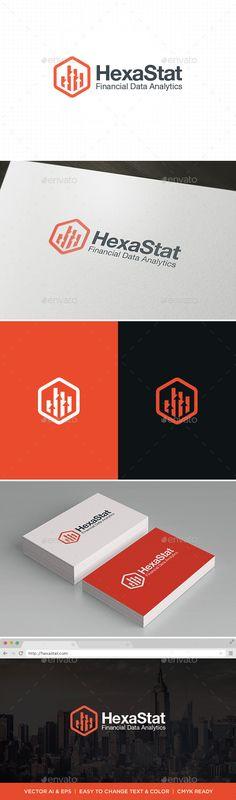 HexaStat Logo Template Vector EPS, AI. Download here: http://graphicriver.net/item/hexastat-logo/11422471?ref=ksioks