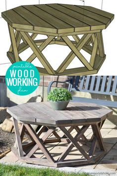 Diy Furniture Table, Diy Furniture Plans Wood Projects, Diy Outdoor Furniture, Cool Woodworking Projects, Diy Woodworking, Outdoor Wood Projects, Woodworking Machinery, Woodworking Furniture, Diy Furniture Templates
