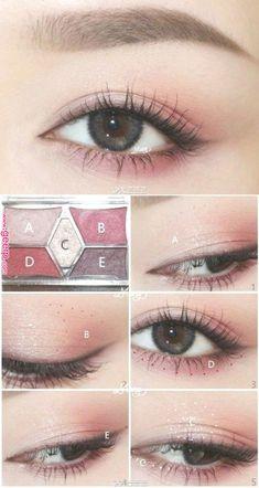 Trendy Makeup Eyeshadow Looks Make Up Ideas Makeup Korean Style, Korean Natural Makeup, Korean Eye Makeup, Asian Makeup, Makeup Style, Korean Makeup Tutorial Natural, Korean Eyeshadow, Korean Eyebrows, Make Up Tutorials
