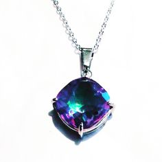 Mystic Topaz Necklace In Sterling Silver Handmade Jewelry By