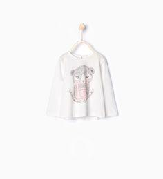 ZARA - KIDS - Animal print organic cotton T-shirt