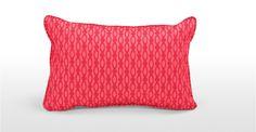 Cuscino rettangolare Lulu 60 x 40cm, corallo e lampone | made.com