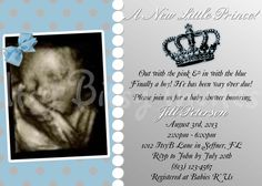 Lil' Prince Baby Shower Invitation / Crown by ItsyBitsyInvitations, $10.50