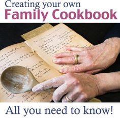Creating a Family Cookbook! All you need to know about creating your own family cookbook. tips and resources! Making A Cookbook, Homemade Cookbook, Create A Cookbook, Cookbook Ideas, Plenty Cookbook, Cookbook Display, Fixate Cookbook, Cookbook Storage, Cookbook Design