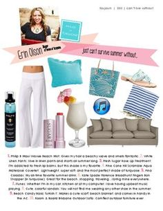"""Erin of House of Turquoise included #PineConeHill Scramble Aqua Matelasse Coverlet in her list of """"Can't Live Without"""" summer items in Tourjours Magazine!"""