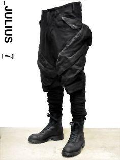 JULIUS ユリウス ガスマスク カーゴ サルエル パンツ デニム 通販 537PAM39