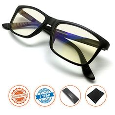 JS-Vision-Blue-Light-Shield-Computer-ReadingGaming-Glasses-00-Magnification-Anti-blue-light-100-UV-protection-Low-color-distortion-classic-matte-black-frame-Essential-Gaming-Gear