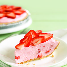 This strawberry-filled pie is perfect for any warm-weather celebration; it's simple to make and requires no baking!