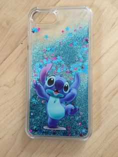 Disney Stitch Bling Sparkle Liquid Glitter Quicksand Case For iPhone 7 iPhone 7 Plus iPhone 8 iP - Iphone Plus Glitter Case - Iphone Plus Glitter Case ideas - Diy Iphone Case, Glitter Iphone 6 Case, Iphone Phone Cases, Iphone 8, Apple Iphone, Stitch Disney, Lilo Et Stitch, Cute Cases, Cute Phone Cases