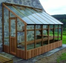 "Swallow Dove lean to greenhouses are 6ft 7"" wide and are available in multiple length's, a choice of natural finish or high quality paint options ensures that you will find the right match for your house or wall."