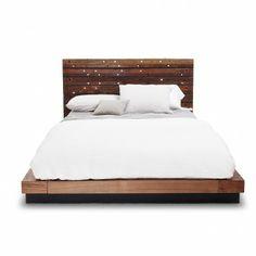 Edge Rustic Metal Queen Bed