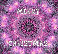 #MERRY #CHRISTMAS #MANDALA by #Kaye #Menner #Photography Quality Prints Cards #Tshirts at: http://kaye-menner.artistwebsites.com/featured/merry-christmas-mandala-by-kaye-menner-kaye-menner.html