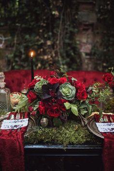 A Gothic tablescape inspired by Edgar Allan Poe | Photo by Tashana Klonius