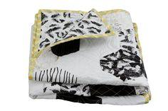 narzuta patchwork hexagons black & white w dom artystyczny na DaWanda.com