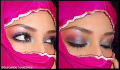Arabic women really have a unique way of making a beautiful eye...because their faces are covered with a Burqa which is a face cover only leaving the eyes to show they make their eyes a prime feature!!! Some using a lot of Kohl liner!