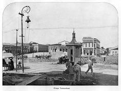 Praça Tamandaré - Imagem que compõem o acervo do Álbum do Amazonas referente aos anos de 1901 e 1902.