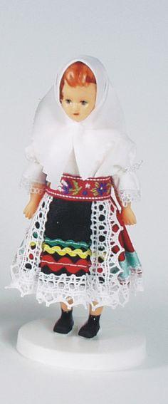 Panenky - 12 cm | Ždiar 12cm - nemrkací - SLOVENSKO | Krojované panenky