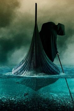 The river styx | The Ferryman on the river Styx.