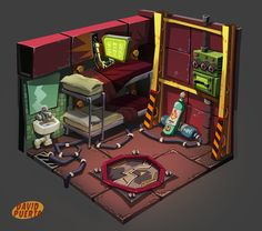 Some assets for Vesta (MAX was the codename), a videogame that I'm currently doing with Manuel Usero and his amazing team, FinalBoss.A game with puzzles, deep steampunk atmosphere and awesome story. Hope you guys like it