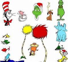 image regarding Printable Dr Seuss Characters named 33 Simplest Dr Suess Figures photos inside 2018 Clroom, Dr