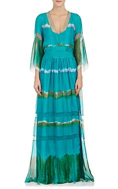 We Adore: The Tie-Dyed Silk Long Dress from Alberta Ferretti at Barneys Warehouse