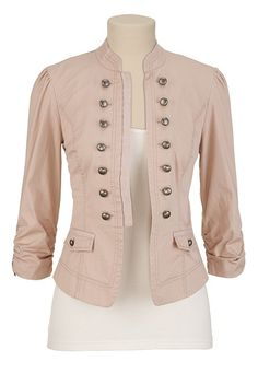 Button Front Washed Jacket - maurices.com