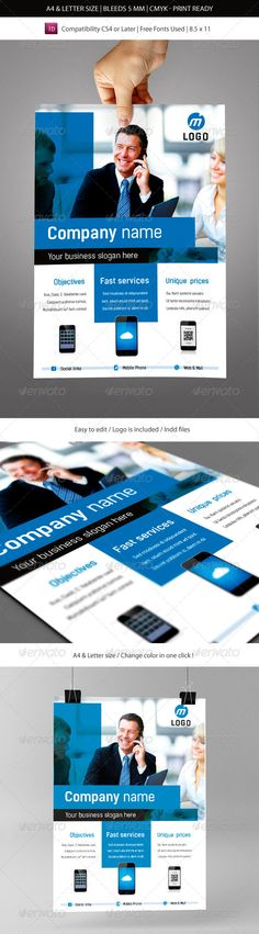 Corporate & Business Commerce Flyer Template #GraphicRiver In this package The pack contains A4 & Letter version with: 1x Idml file compatible with Indesign CS4 & CS6. 1x Indd file compatible with Indesign CS5. 1x instructions.txt file for the informations about the free fonts used. Photos are not included. Did you liked this pack ? I Hope you will like this pack. Don't forget to rate it FREE FONT USED KELSON: .fontsquirrel /fonts/kelson Created: 22November13 GraphicsFilesIncluded…