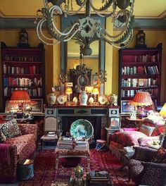 Living room inspiration source unknown - Architecture and Home Decor - Bedroom - Bathroom - Kitchen And Living Room Interior Design Decorating Ideas - Maximalist Interior, British Home, British Decor, English Country Style, English Decor, Comfortable Living Rooms, Second Empire, Bohemian Interior, Stylish Interior
