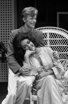 David Bowie and Elizabeth Taylor by Terry O'Neill