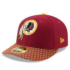 Men s New Era Burgundy Gold Washington Redskins Historic Logo Baycik 9FIFTY  Snapback Adjustable Hat ee8279db0