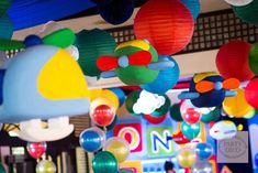 Kinno's Transportation Themed Party – Ceiling decors