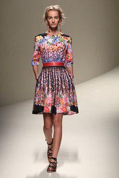 Dress by Alberta Ferretti. #mfw #fashionweek #ss14