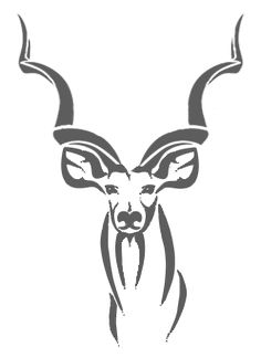 Image result for Free clip art Kudu Stencil Patterns, Wall Patterns, Animal Drawings, Art Drawings, Fabric Paint Designs, Henna Tattoo Designs, Bow Hunting, Scroll Saw, String Art