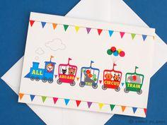 Circus train + balloons